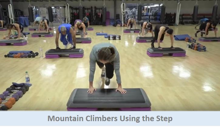 Mountain Climbers Using the Step