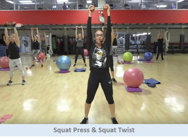Squat press & Squat Twist