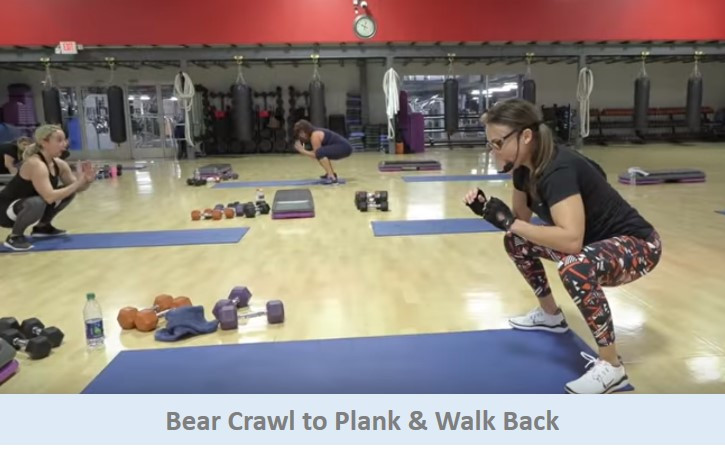Bear Crawl to Plank & Walk Back