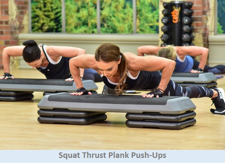 Squat thrust & plank push-ups