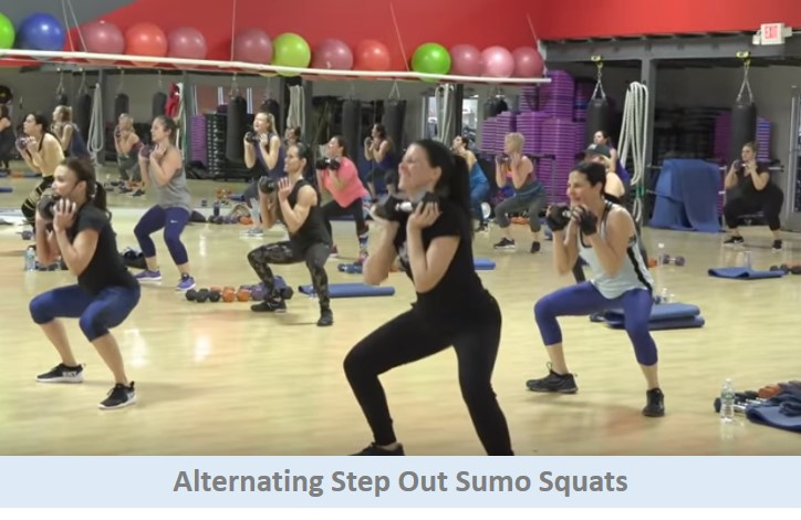 Alternating Step Out Sumo Squats