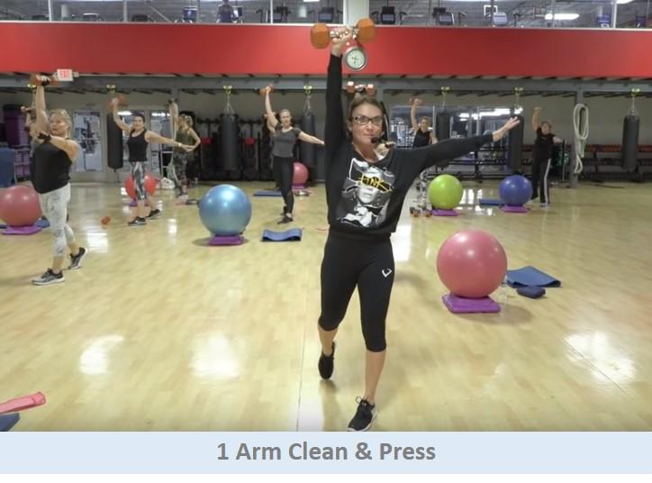 1 Arm Clean & Press