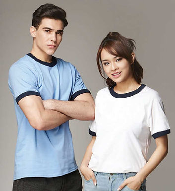 Gildan Adult Ringer Short Sleeved T-shirt 76600 (Cotton) - 180 gsm