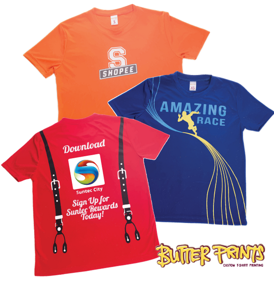 Smooth Drifit T-shirts - Butter Prints