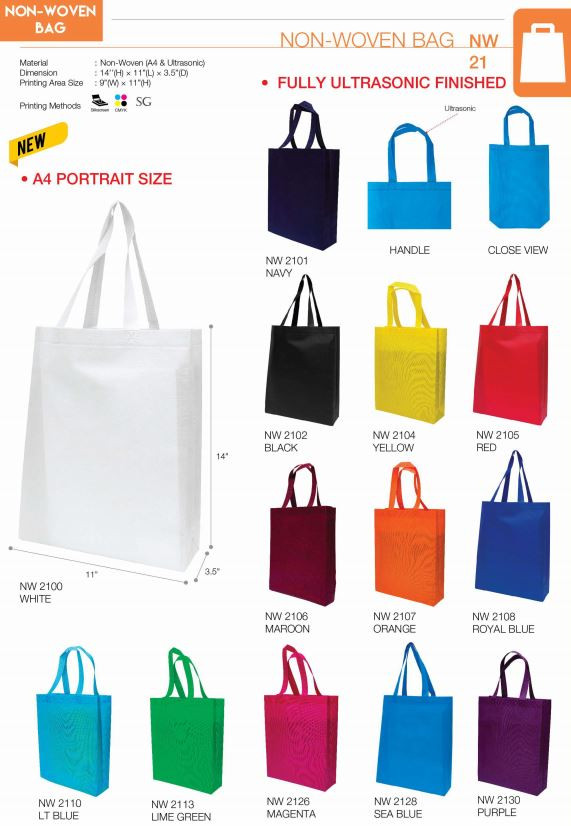 NW21 Series (A4 Portrait Non-Woven Bag)