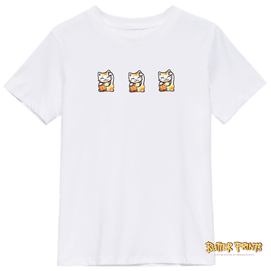 Lucky Cats T-shirt (with print name option)