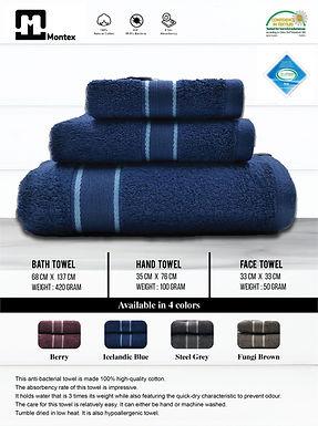 Face, Hand & Bath Towels (Antibacterial Certified)