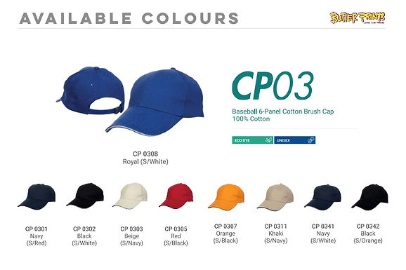 Cotton Caps 2-toned (CP03)