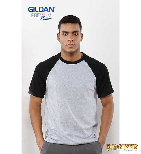 Gildan Adult Raglan Short Sleeved T-shirt 76500 (Cotton) - 180 gsm