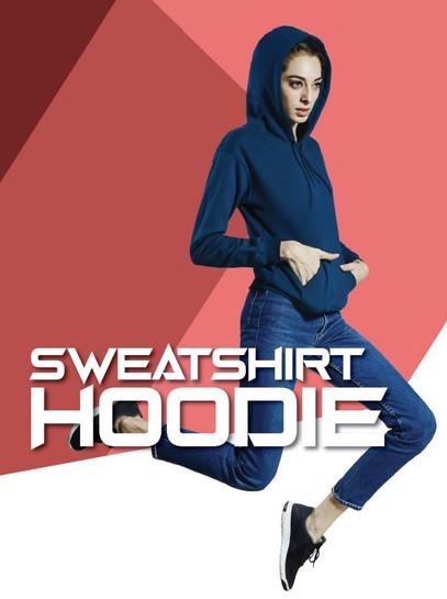 Sweatshirt Hoodie without Zip