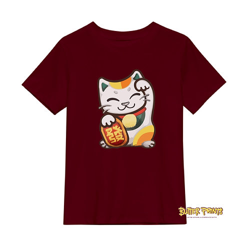 Lucky Cat T-shirt (with print name option)