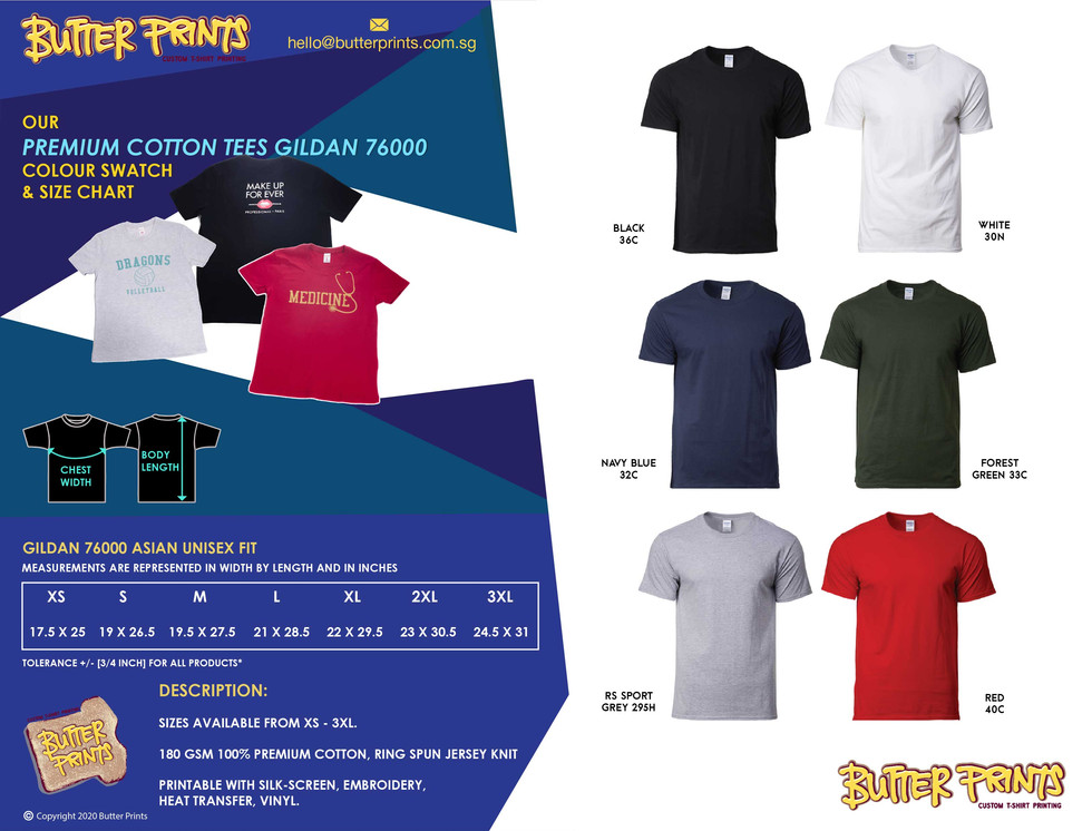 1. 2020 Premium Cotton T-shirts 76000 Bu