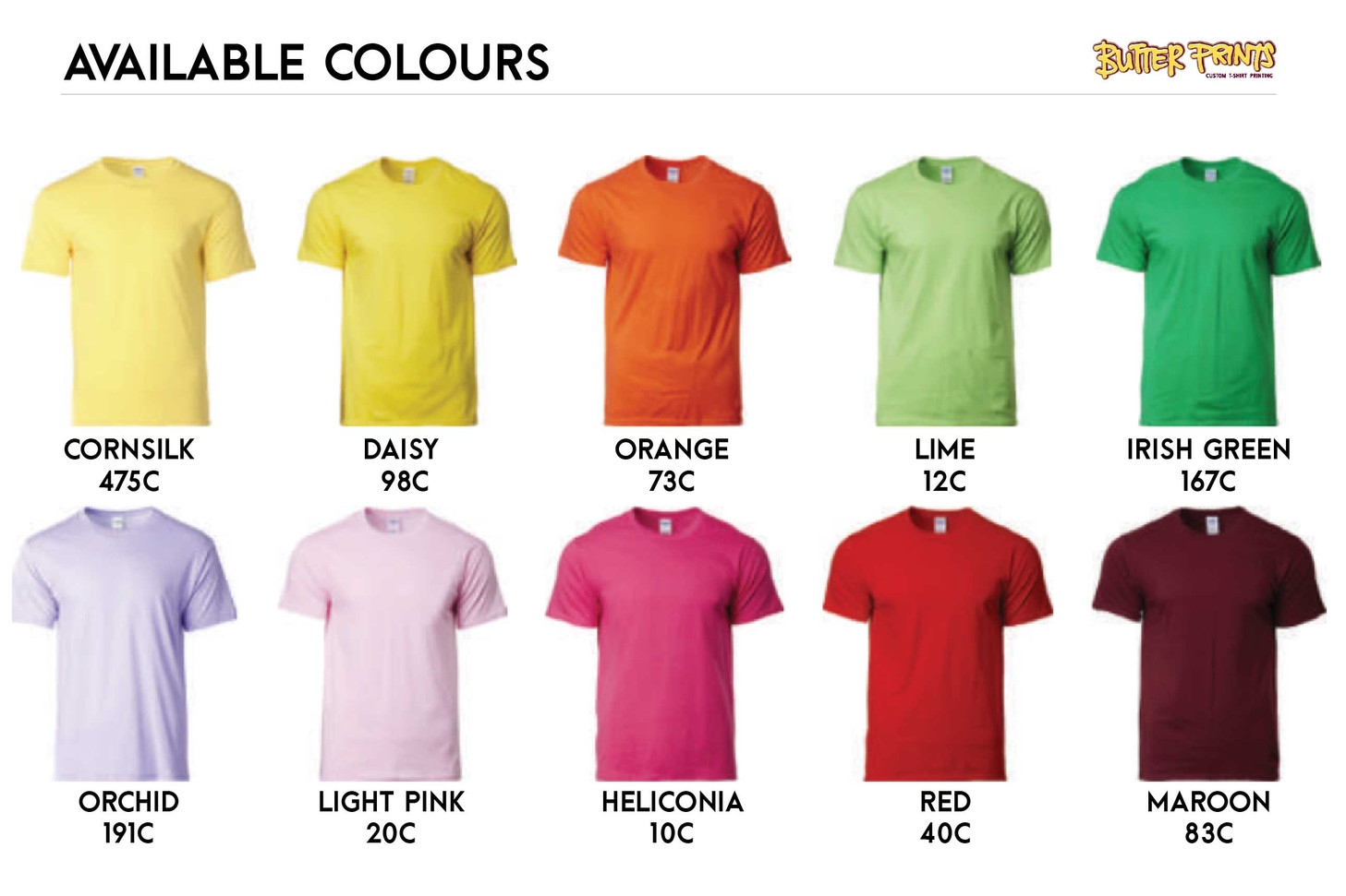 Gildan Softstyle 63000 Cotton T-shirts Color Chart 1