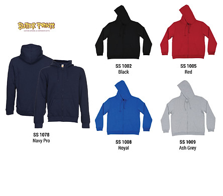 Sweatshirt Hoodie with Zip - Colors - Bu