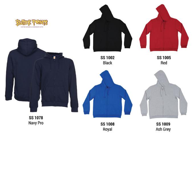 Sweatshirt Hoodie with Zip - Colors - Bu