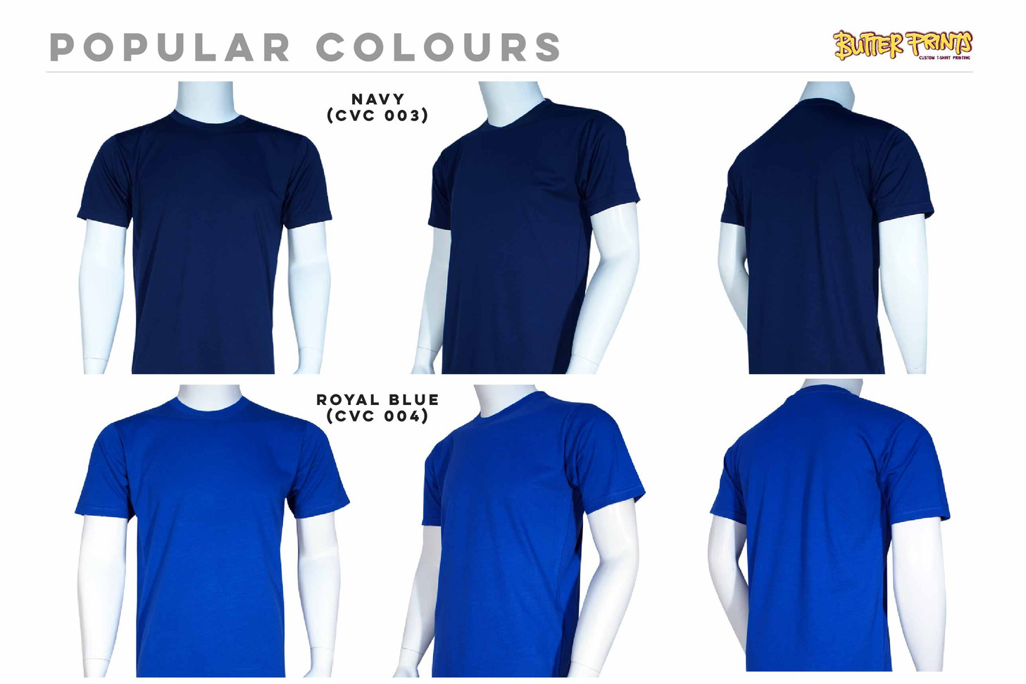 Navy Royal Cotton Roundneck T-shirts