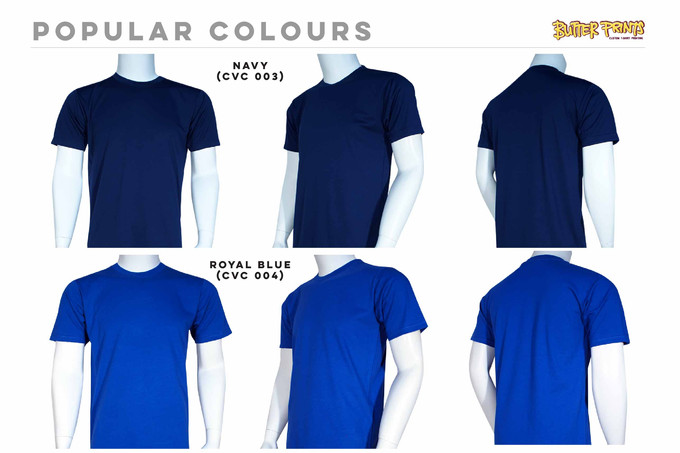 Navy Royal Cotton Roundneck T-shirts