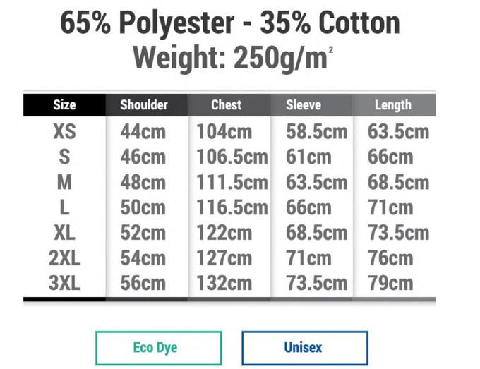 Custom Hoodies Size Chart - Butter Print
