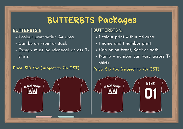 BUTTER Back-to-School Packages