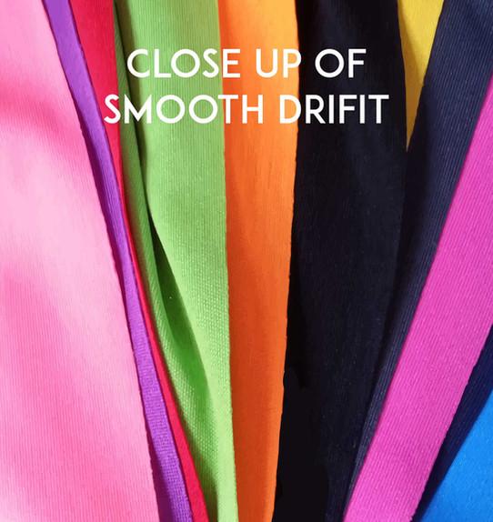 Smooth Interlock Drifit Roundneck Close Up - Butter Prints T-shirts