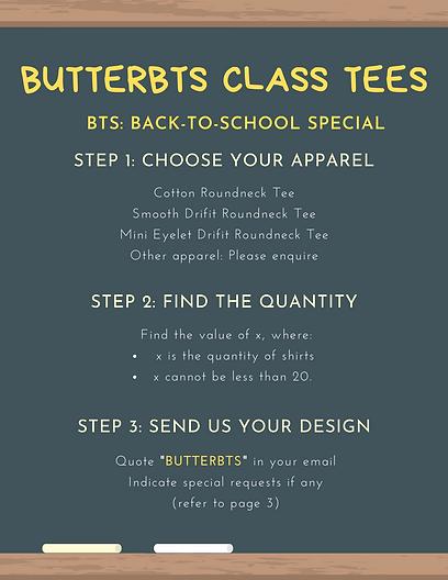 BUTTER Class T-shirts Special