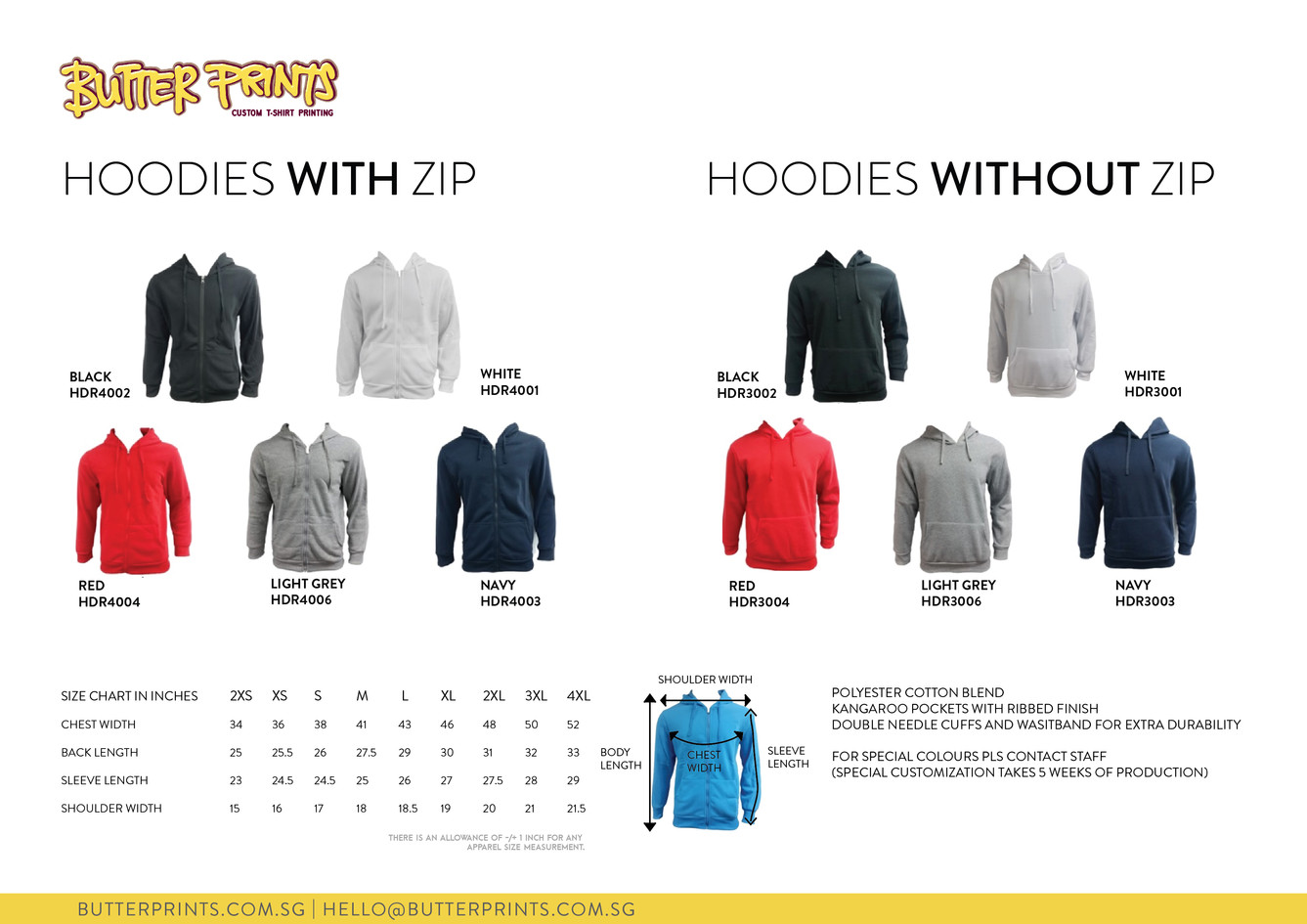 8. 2020 Hoodies with and without zip - B