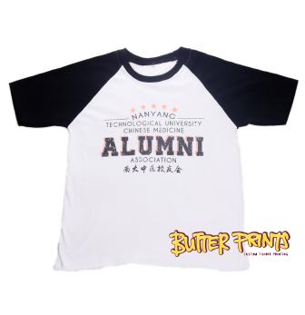 Raglan T-shirt customised by Butter Prin