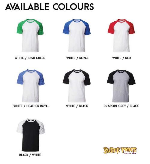 Gildan Premium Raglan 76500 Color Chart