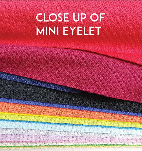 Mini Eyelet Drifit T-shirts Close Up - Butter Prints