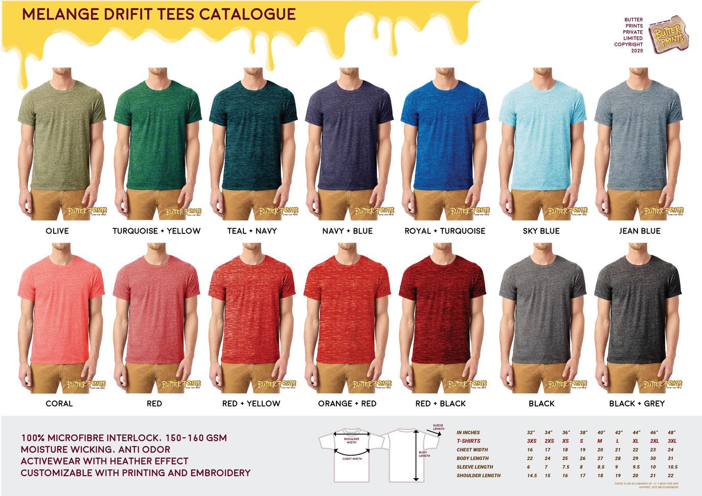 2020 Melange Interlock Drifit T-shirts C