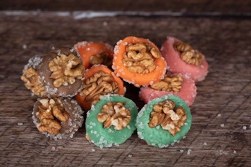 Marsepein walnoot bonbons