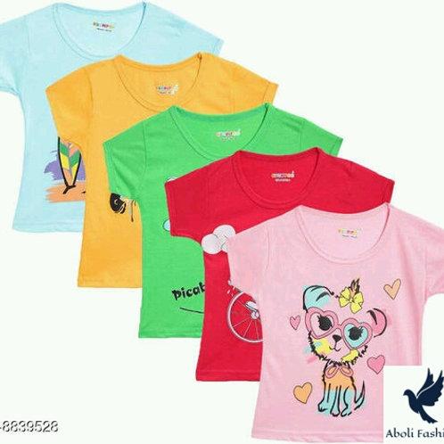 Girls Tshirts (pack of 5)