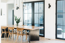 Metal & Wood Dining Table