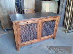TV Cabinet with Metal Mesh Doors