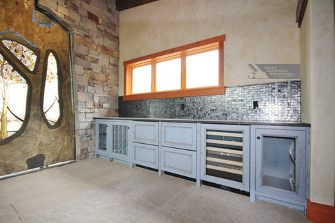 Blue Buffet Cabinets