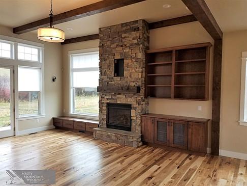 Living Room Custom Cabinets & Shelves