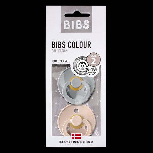 Bibs Duo Blister  fopspeen latex vanaf 0-6maand