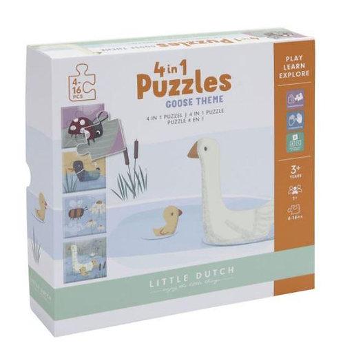 Little dutch puzzel 4 in 1