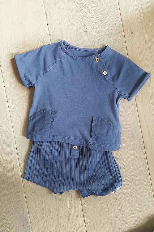 Snug Set indigo short & T-shirt