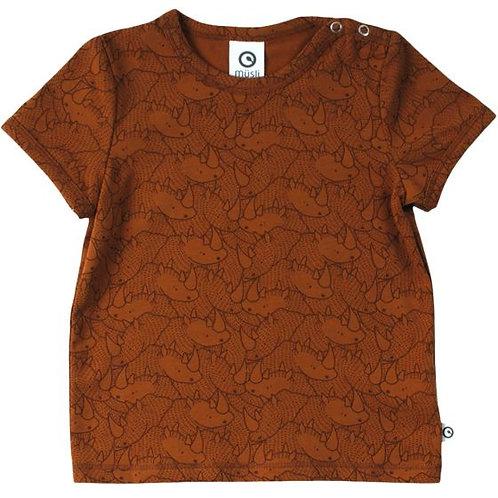 Müsli Tshirt Neushoorn bruin