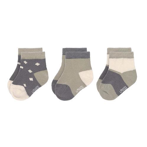 Sneaker Sokken GOTS (3 stuks) - Cosy Colors, Antraciet