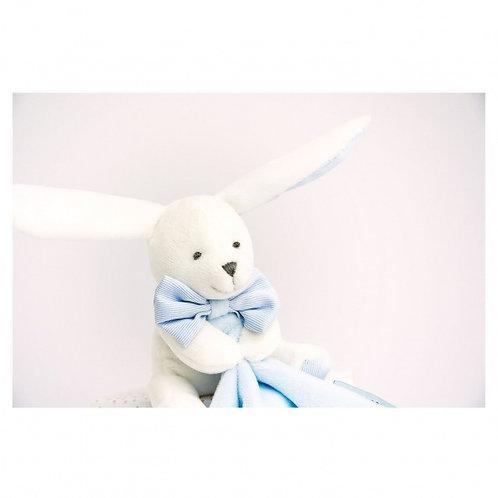 Doudou et Compagnie konijntje wit/ blauw