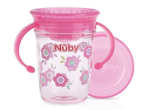 Nuby Wonder cup met handvatten in Tritan 240ml roze/ blauw/ Grijs 6m+