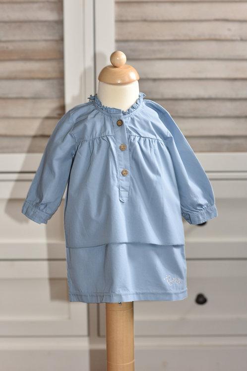 Llichtblauw kleedje