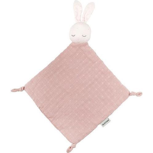 Nattou Pure knuffel/speen doekje konijn