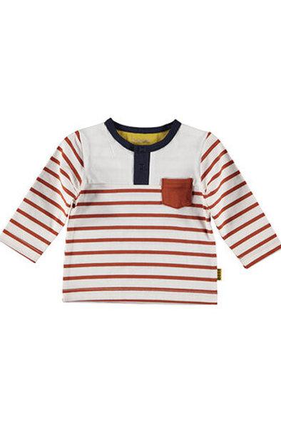 Shirt Henley l.sl.striped