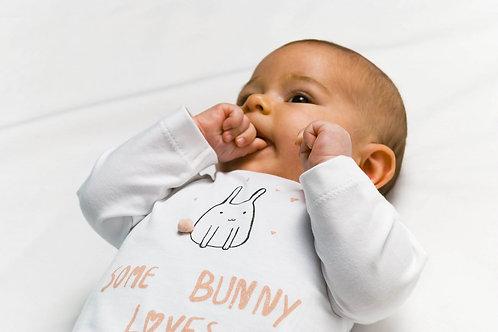 ZERO2THREE T-SHIRT LS Some Bunny loves me