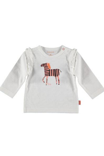 White T-shirt Zebra