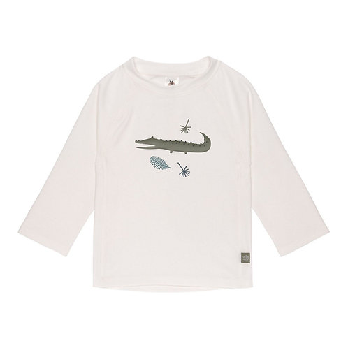 UV Zwemshirt voor baby's - Longsleeve - Krokodil - Wit