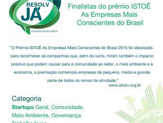 ResolvJá é finalista do prêmio ISTOÉ As Empresas Mais Conscientes do Brasil